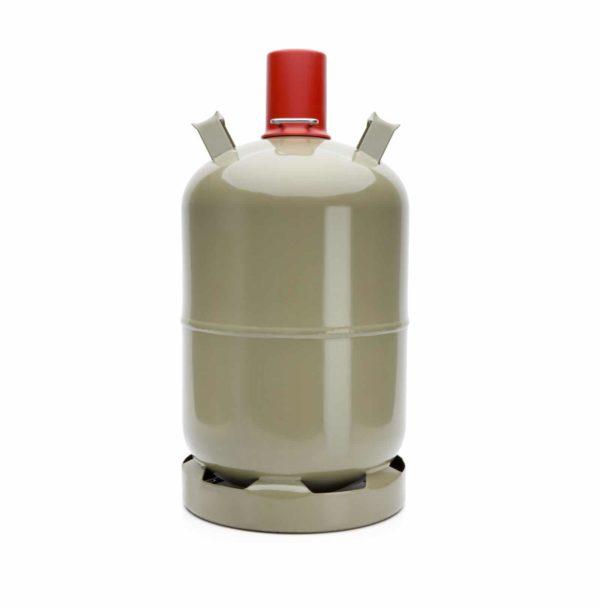 Flasche mit Gas gefüllt für Heizungen oder Grill