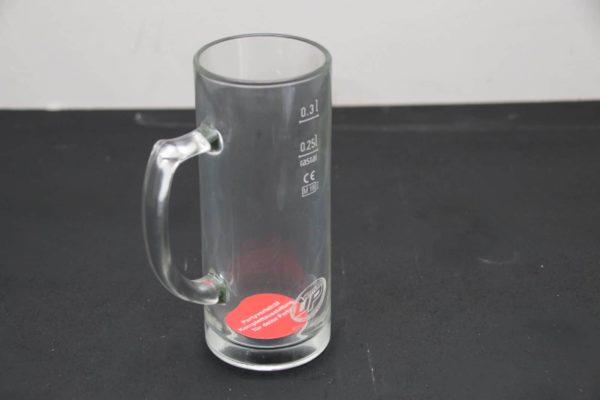 Glas mit Henkel für Bottoms Up Beer System