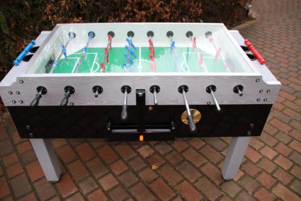 Tisch Fußball für Kinder oder Erwachsene mit Glasabdeckung